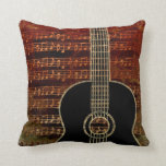 Warm Tones Guitar Id280 Throw Pillow at Zazzle