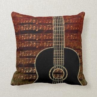 Warm Tones Guitar ID280 Throw Pillow