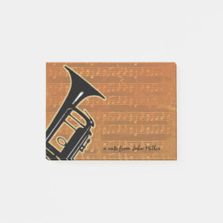 Warm Tones Trumpet Post-it Notes
