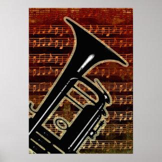 Warm Tones Trumpet Posters
