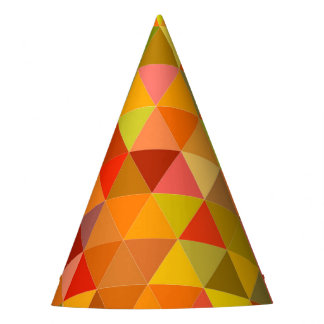 Warm triangle tiles party hat