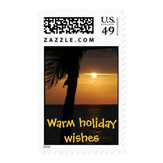 Warm Tropical Holidays Postage