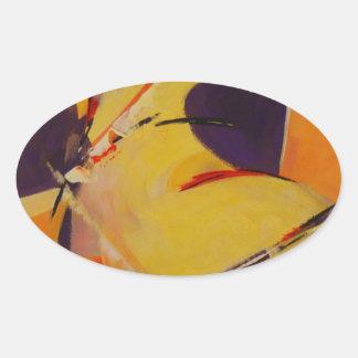 Warm Undertones Oval Sticker