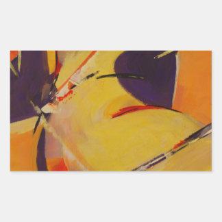 Warm Undertones Rectangular Sticker