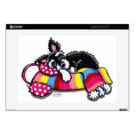 Warm Up Little Schnauzer Decal For Laptop