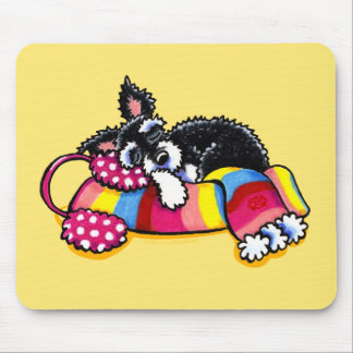 Warm Up Little Schnauzer Mouse Pad