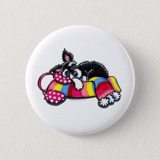 Warm Up Little Schnauzer Pinback Button