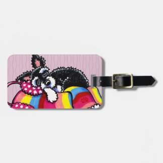 Warm Up Little Schnauzer Tag For Luggage