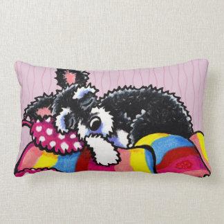 Warm Up Little Schnauzer Throw Pillow
