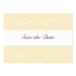 Warm Vanilla Sweet Floral Save The Date Cards