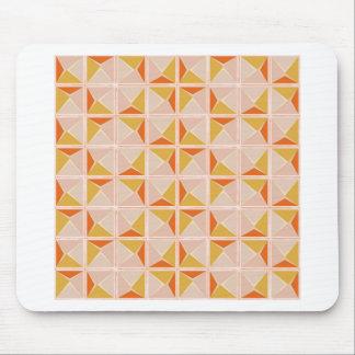 Warm Vintage Geometric Pattern Mouse Pad