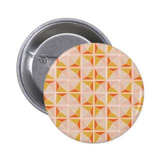 Warm Vintage Geometric Pattern Pinback Button