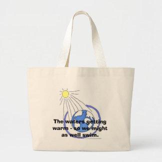 warm waters large tote bag