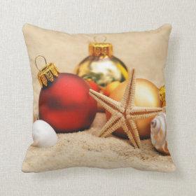 Warm Weather Christmas Throw Pillows