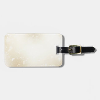 Warm Winter Gold Wonderland with Snowflakes Luggage Tag