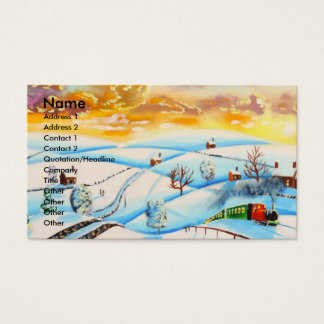 warm winter sky landscape painting Gordon Bruce Business Card