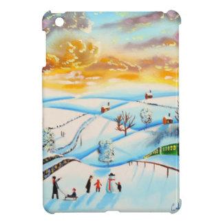 warm winter sky landscape painting Gordon Bruce iPad Mini Covers