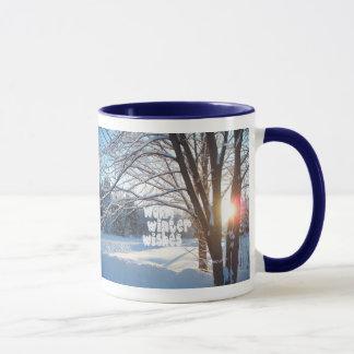 WARM WINTER WISH LIST Winter Sunrise Design Mug