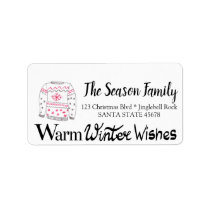 Warm Winter Wishes Christmas Sweater Label