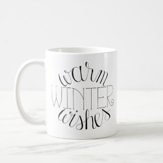 Warm Winter Wishes Hand-Lettered Mug