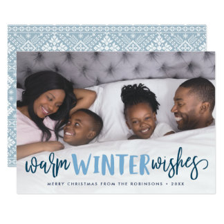 Warm Winter Wishes | Holiday Photo Card