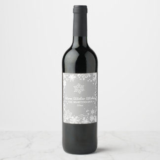 Warm, Winter, Wishes, Holiday Wine Label