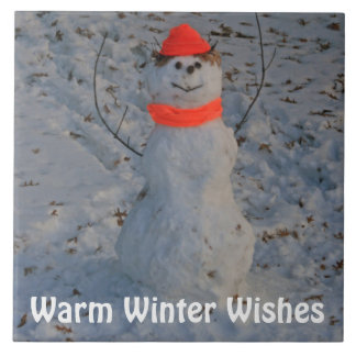 Warm Winter Wishes Large Tile