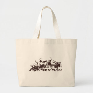 Warm Winter Wishes Large Tote Bag