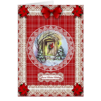 Warm Winter Wishes 'n Lace Card