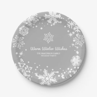 Warm Winter Wishes Paper Plate