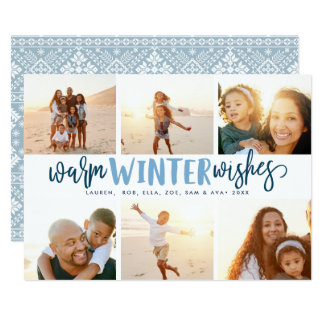 Warm Winter Wishes | Photo Collage Holiday Card