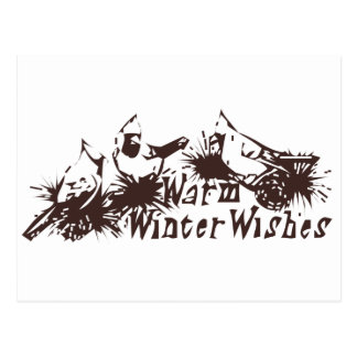 Warm Winter Wishes Postcard