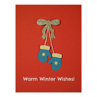 Warm Winter Wishes! Poster