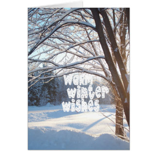 WARM WINTER WISHES Winter Sunrise Design Card
