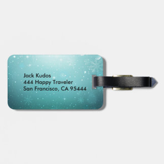 Warm Winter Wonderland with Snowflakes Bag Tag