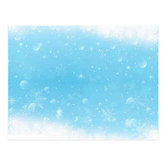 Warm Winter Wonderland with Snowflakes Postcard