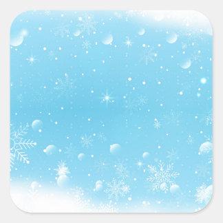 Warm Winter Wonderland with Snowflakes Square Sticker