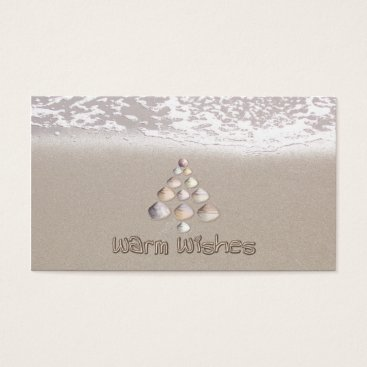 Beach Themed Warm Wishes Business Card