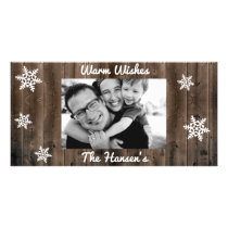 Warm Wishes Customizable Christmas Card