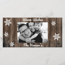 Warm Wishes Customizable Christmas Holiday Card