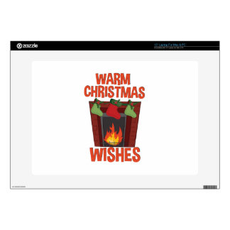 """Warm Wishes Decal For 15"""" Laptop"""