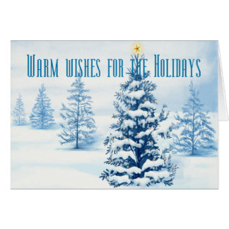 Warm wishes for the Holidays Card