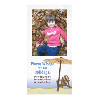 Warm Wishes for the Holidays Photo Card