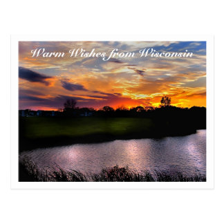 Warm Wishes from Wisconsin Postcard