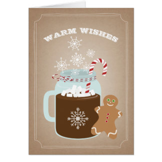 Warm Wishes Gingerbread Man Christmas Card