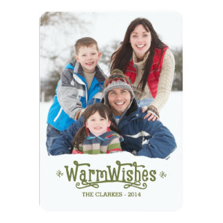 Warm Wishes | Holiday Photo Card