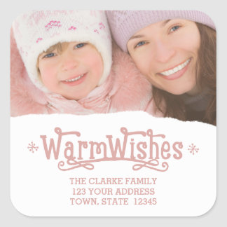 Warm Wishes | Holiday Photo Stickers
