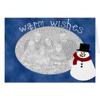 Warm Wishes Snowman Greeting Card