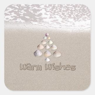 Warm Wishes Square Sticker