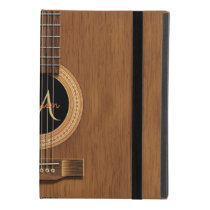 Warm Wood Acoustic Guitar iPad Mini 4 Case